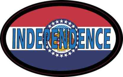 Oval Missouri Flag Independence Sticker