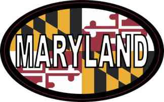 Flag Oval Maryland Sticker