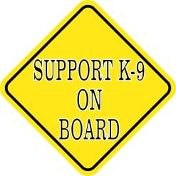 Support K-9 on Board Magnet