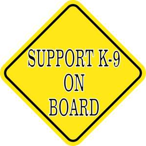 Support K-9 on Board Sticker