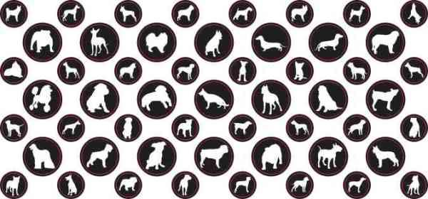 StickerTalk® White Silhouette Dog Camera Dots® Webcam Covers