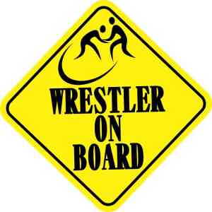 Wrestler On Board Sticker