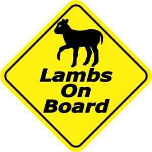 Lambs On Board Magnet