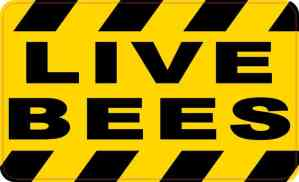 Live Bees Sticker