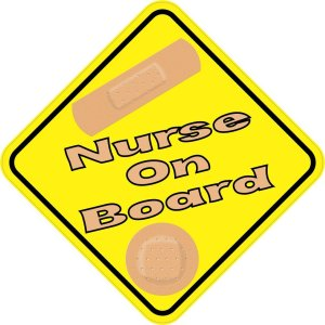 Nurse On Board Magnet