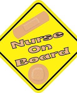 Nurse On Board Magnet