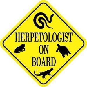 Herpetologist On Board Magnet