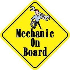 Mechanic On Board Magnet