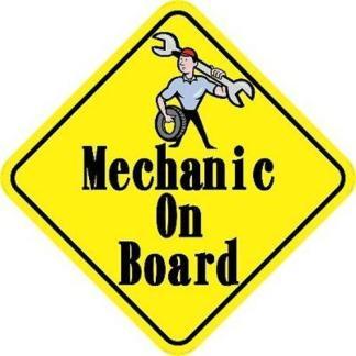 Mechanic On Board Sticker