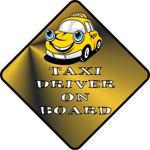 Taxi Driver On Board Magnet
