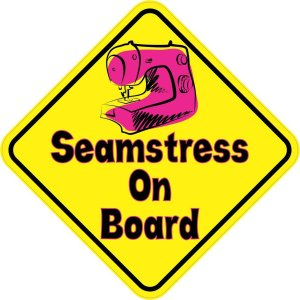 Seamstress On Board Magnet