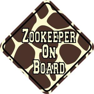 Giraffe Print Zookeeper On Board Magnet