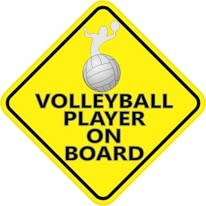 Volleyball Player On Board Magnet