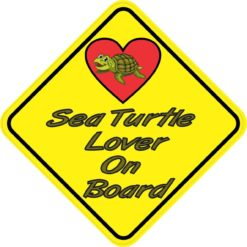 Sea Turtle Lover On Board Sticker