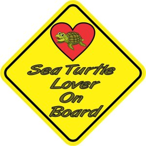 Sea Turtle Lover On Board Magnet
