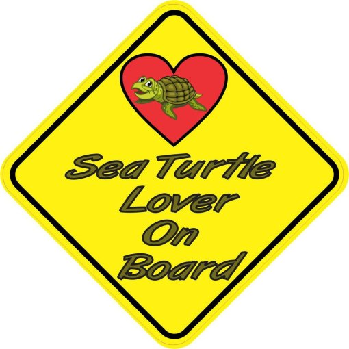 Sea Turtle Lover On Board Magnet