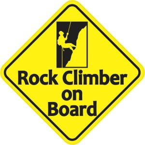 Rock Climber on Board Magnet