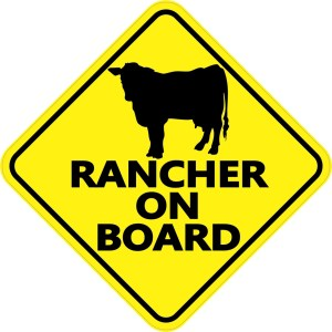 Rancher on Board Sticker