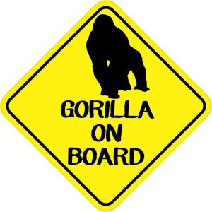 Gorilla On Board Magnet