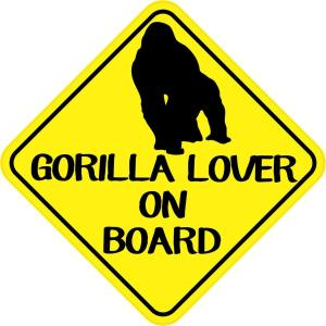 Gorilla Lover On Board Magnet