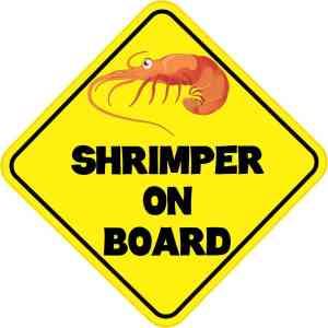 Shrimper On Board Sticker
