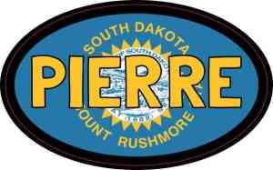 Oval South Dakota Flag Pierre Sticker