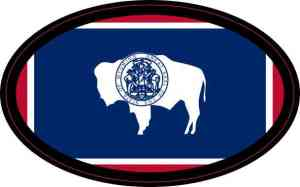 Oval Wyoming Flag Sticker