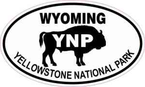 Buffalo Oval Yellowstone National Park Sticker