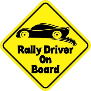 Rally Driver On Board Sticker