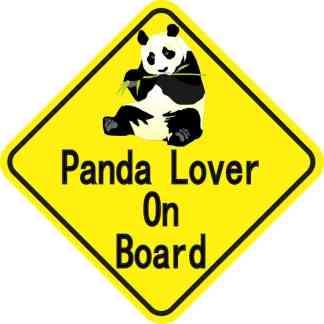 Panda Lover On Board Magnet