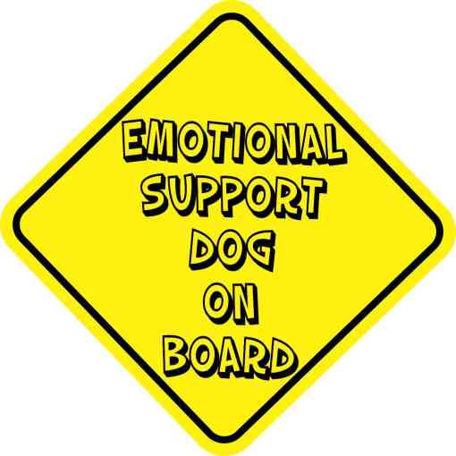 Emotional Support Dog On Board Sticker