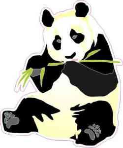 Left-Facing Panda Sticker