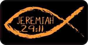 Christian Fish Jeremiah 29:11 Magnet