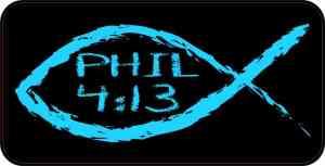 Christian Fish Philippians 4:13 Magnet