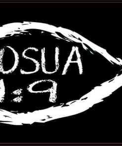 Christian Fish Joshua 1:9 Magnet