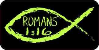 Christian Fish Romans 1:16 Magnet