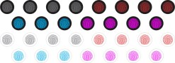 Thumbprint Home Key Button Dots™