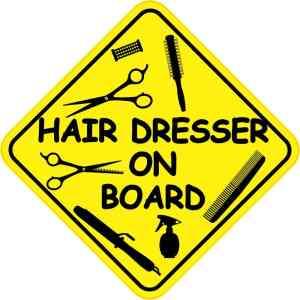 Hair Dresser On Board Sticker