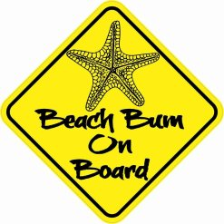 Beach Bum On Board Magnet