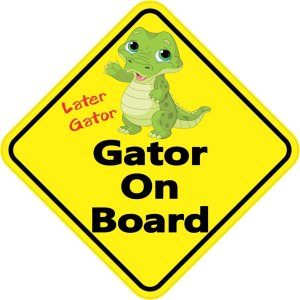 Gator On Board Sticker