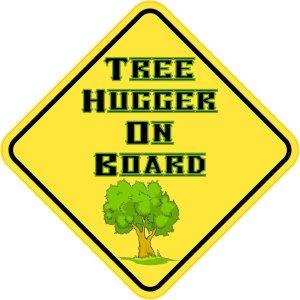 Tree Hugger On Board Sticker