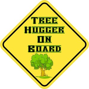 Tree Hugger On Board Magnet