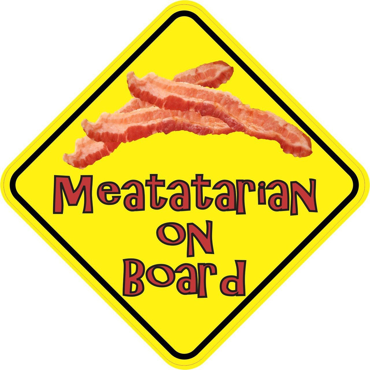 Meatatarian On Board Sticker