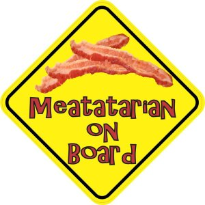 Meatatarian On Board Magnet
