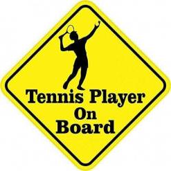 Tennis Player On Board Magnet
