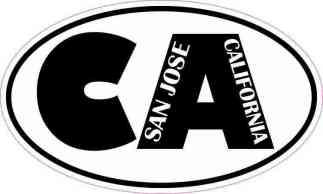 Oval CA San Jose California Sticker