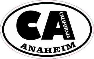 Oval CA Anaheim California Sticker