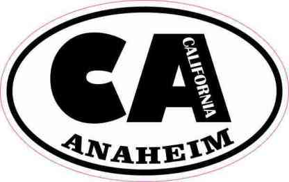 Oval CA Anaheim California Sticker