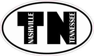 Oval TN Nashville Tennessee Sticker