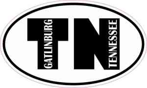 Oval TN Gatlinburg Tennessee Sticker